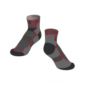 SCOTT SOCKS RC LIGHT black/red