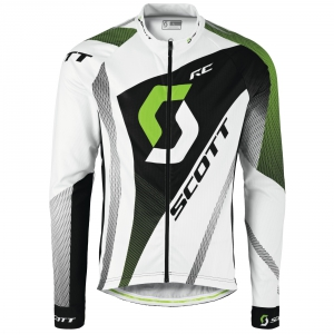 SCOTT RC PRO L/SL SHIRT white/green