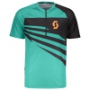 TRAIL 10 S/SL SHIRT pool green/black