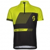 RC TEAM S/SL JUNIOR SHIRT black/sulphur yellow