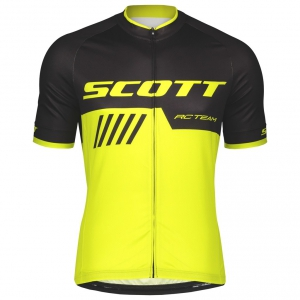 SHIRT RC TEAM 10 S/SL SCOTT black/sulphur yellow