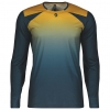 SHIRT TRAIL TECH L/SL nightfall blue/ochre yellow