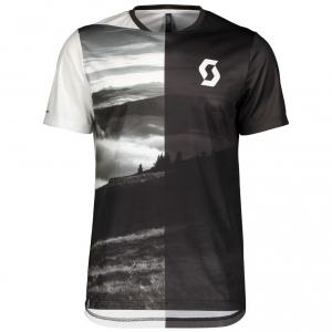 SHIRT TRAIL FLOW S/SL white/dark grey