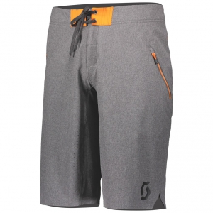 SHORTS TRAIL FLOW PRO +++ light grey/exotic orange