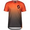 SHIRT TRAIL VERTIC ZIP S/SL exotic orange/black