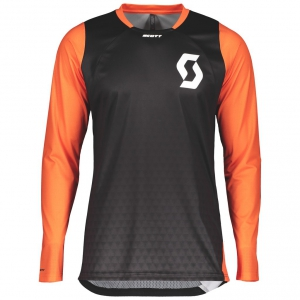 SHIRT TRAIL VERTIC L/SL black/exotic orange