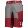 SHORTS TRAIL FLOW WOMENŚ + merlot red/light grey