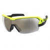 SUNGL SPUR black/yellow gold chrome