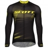SHIRT RC PRO L/SL MENŚ black/sulphur yellow