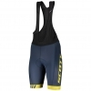 BIBSHORT RC TEAM ++ MENŚ nightfall blue/lemon.yel