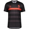 SHIRT TRAIL FLOW PRO S/SL MENŚ black/fiery red