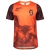 SHIRT TRAIL VERTIC S/SL MENŚ orange pumpkin