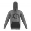 HOODY CASUAL  L/SL heather grey/black