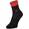 SOCKS TRAIL QUARTER dark grey/fiery red
