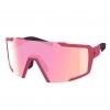 SUNGLASSES SHIELD pink matt/pink chrome
