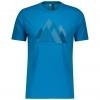 SHIRT MŚ DEFINED DRI GRAPHIC S/SL atlantic blue