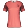 SHIRT WŚ TRAIL VERTIC S/SL brick red/rust red