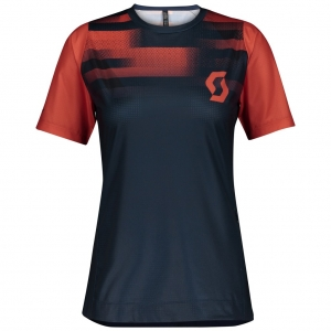SHIRT WŚ TRAIL VERTIC PRO mignight blue/flame red